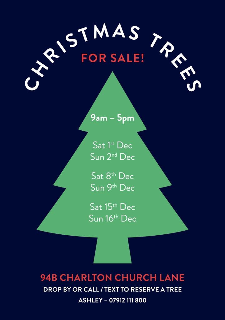 Christmas trees for sale!