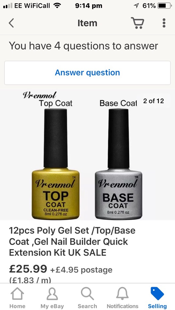 Poly gel nail building extension kit