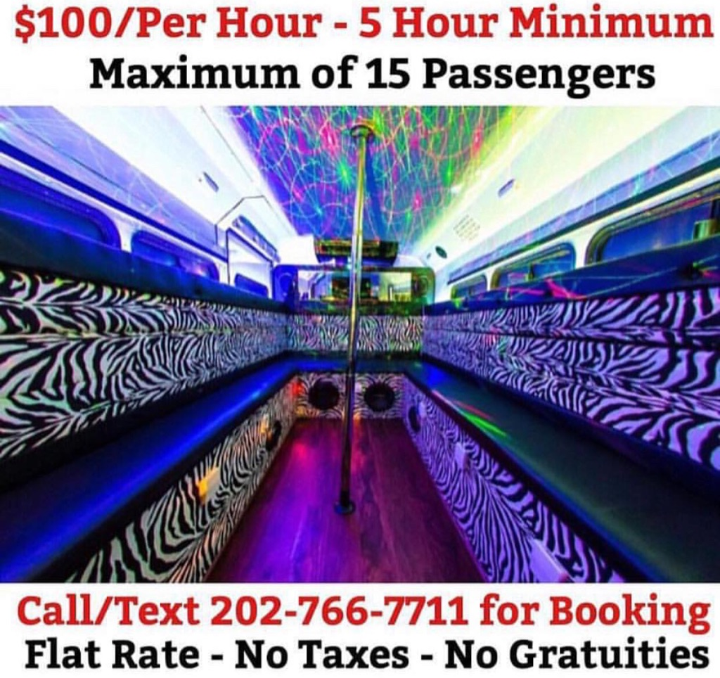 Party Bus 15 Passenger - $500 for 5 Hours