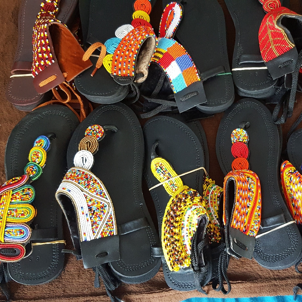 New African hand bags and sandals