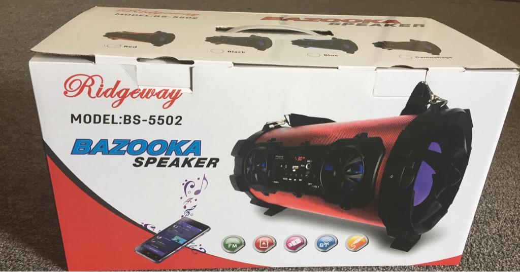 Bazooka Bluetooth speaker