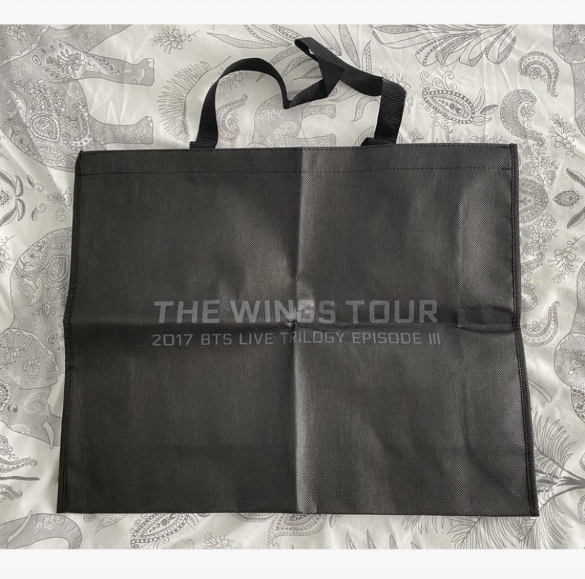 Official BTS 2017 wings tour shopping bag