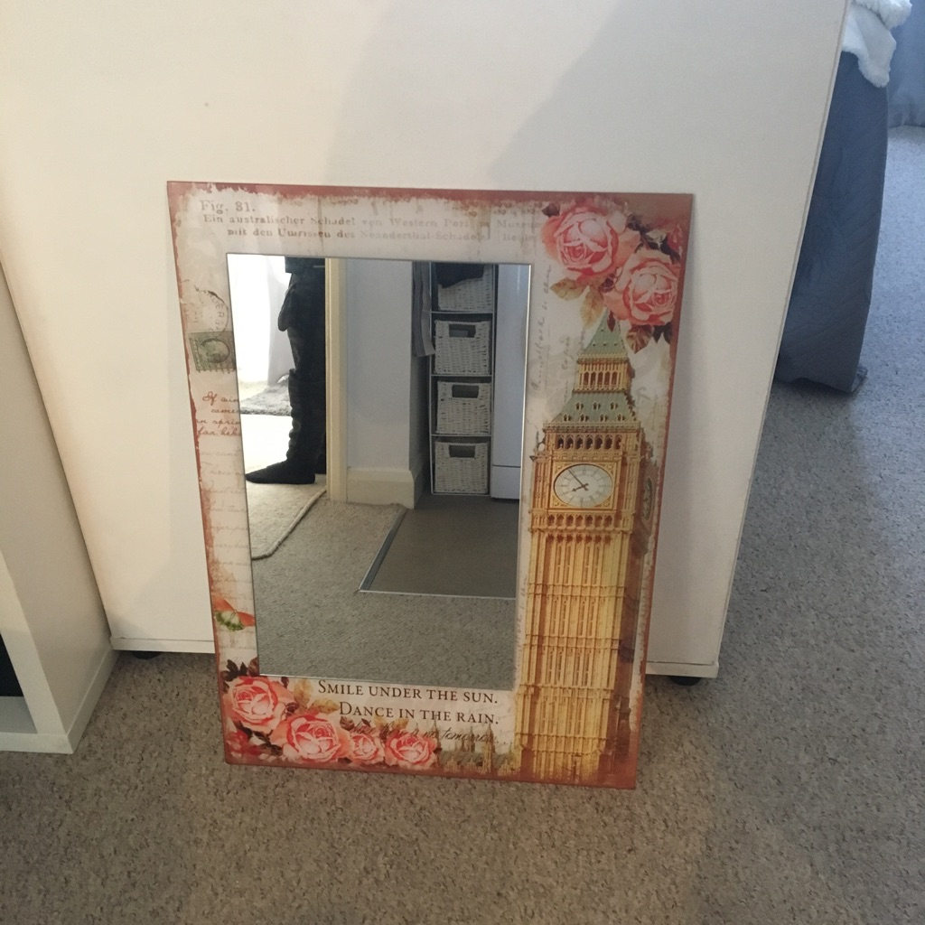 Shabby Chic Paris Theme Mirror