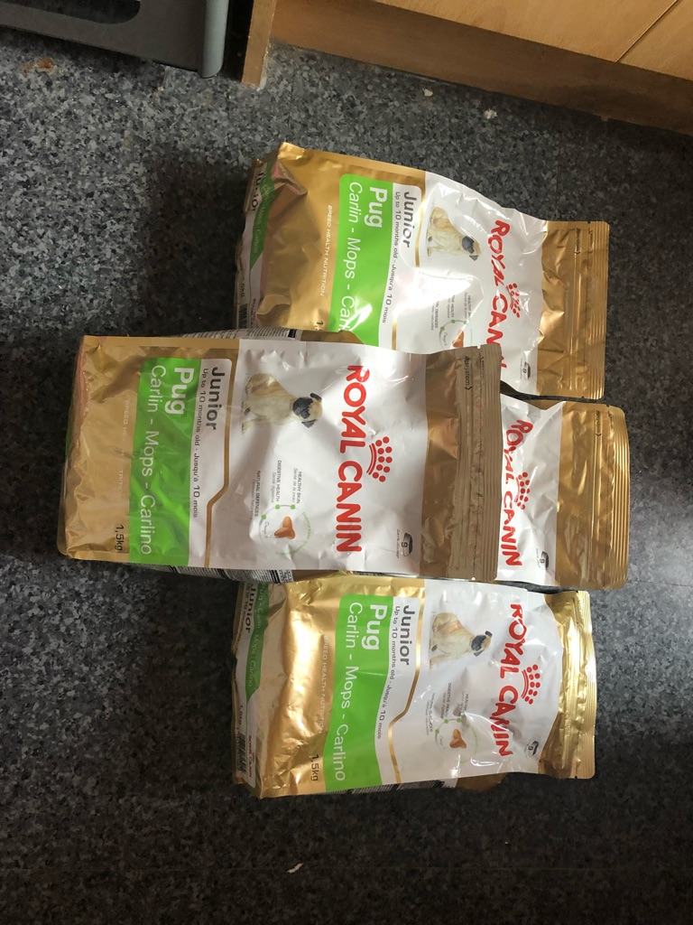 Puppy food & 4 bags of pug biscuits 1.5kg each bag for sale