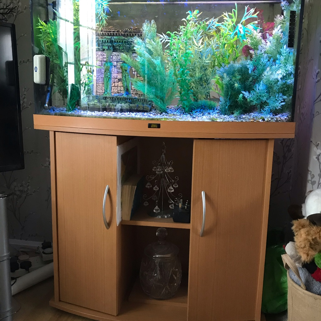 180 litre tank with cupboard stand.