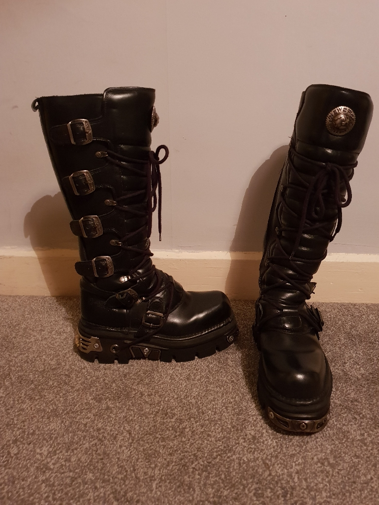 Size 7 New Rock knee high boots