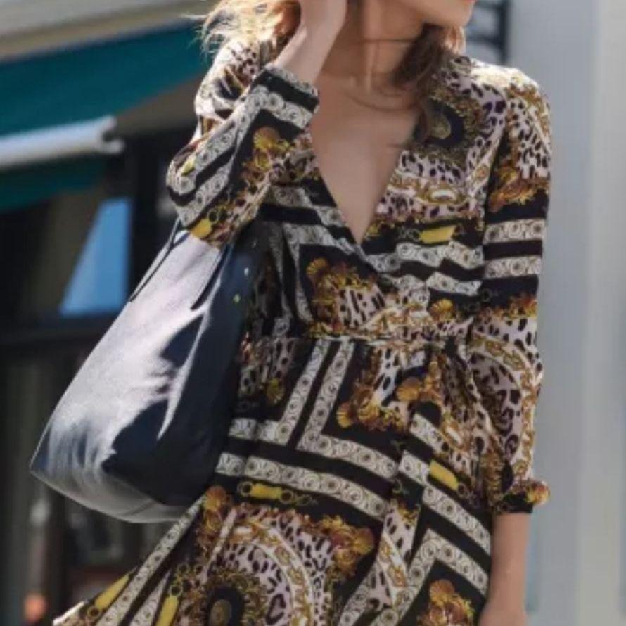 Lipsy wrap scarf print dress 10 BNWT