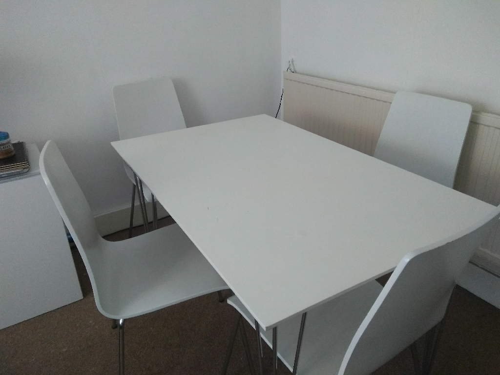 Melamine table and four chairs