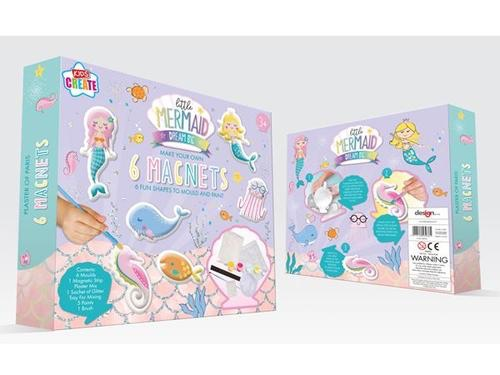 Kids create mermaid make your own magnets