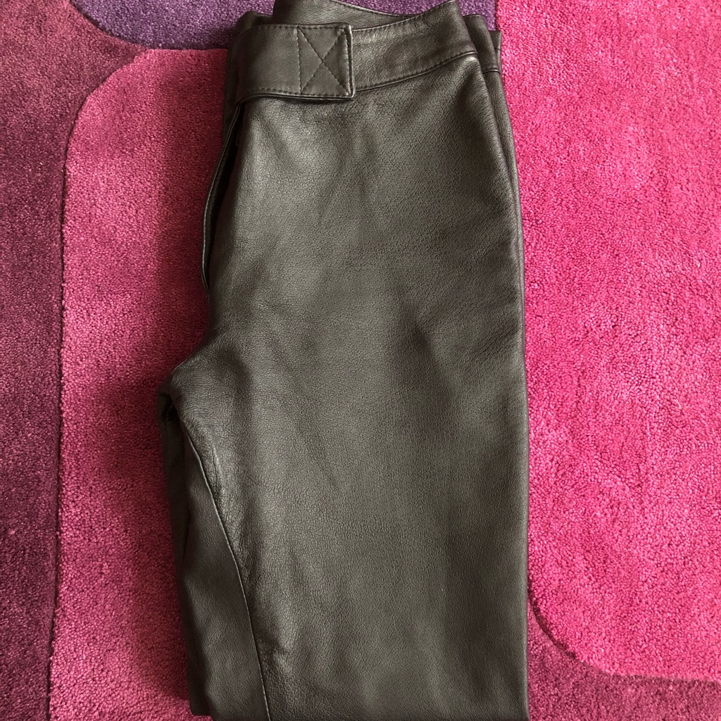 Real Leather Trousers Size 10 (New)