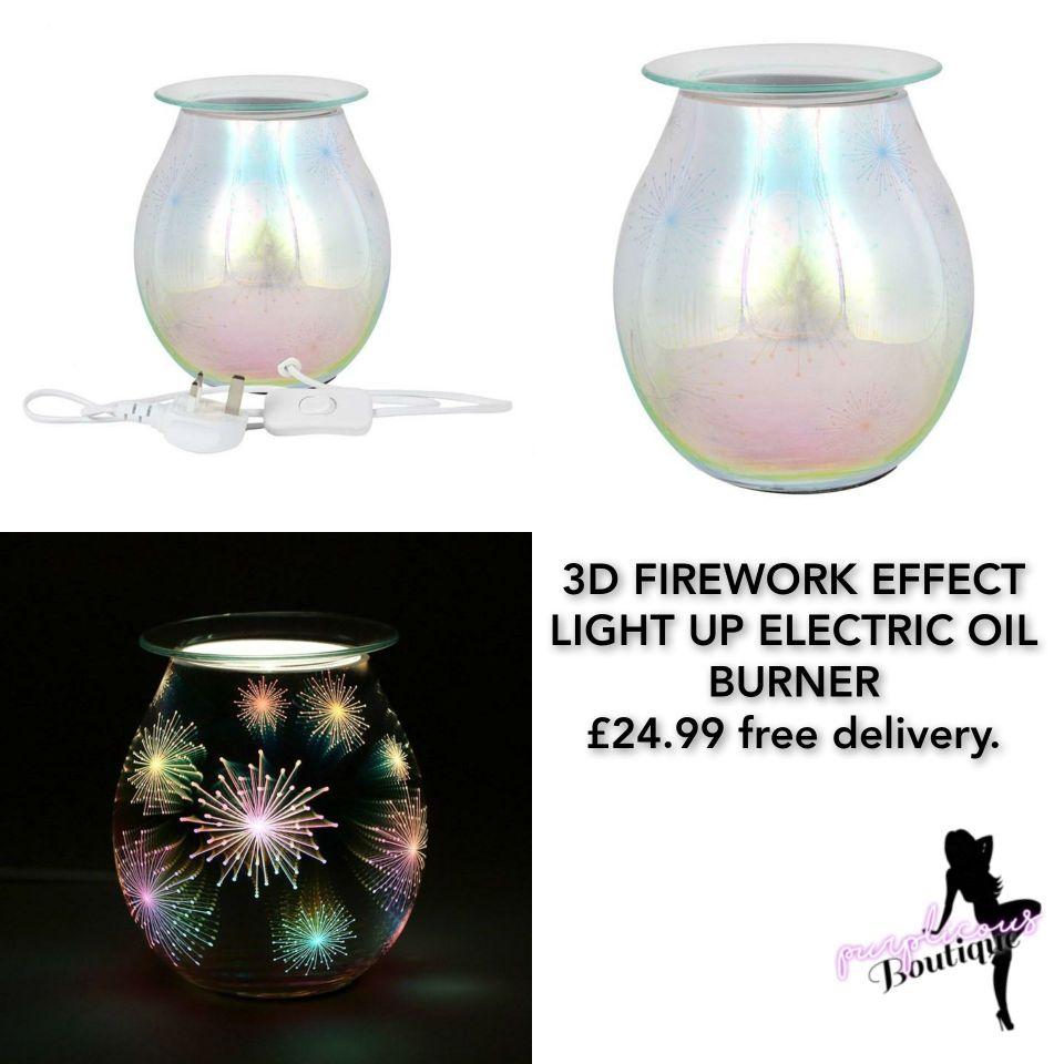 3D FIREWORK EFFECT LIGHT UP ELECTRIC OIL BURNER😍