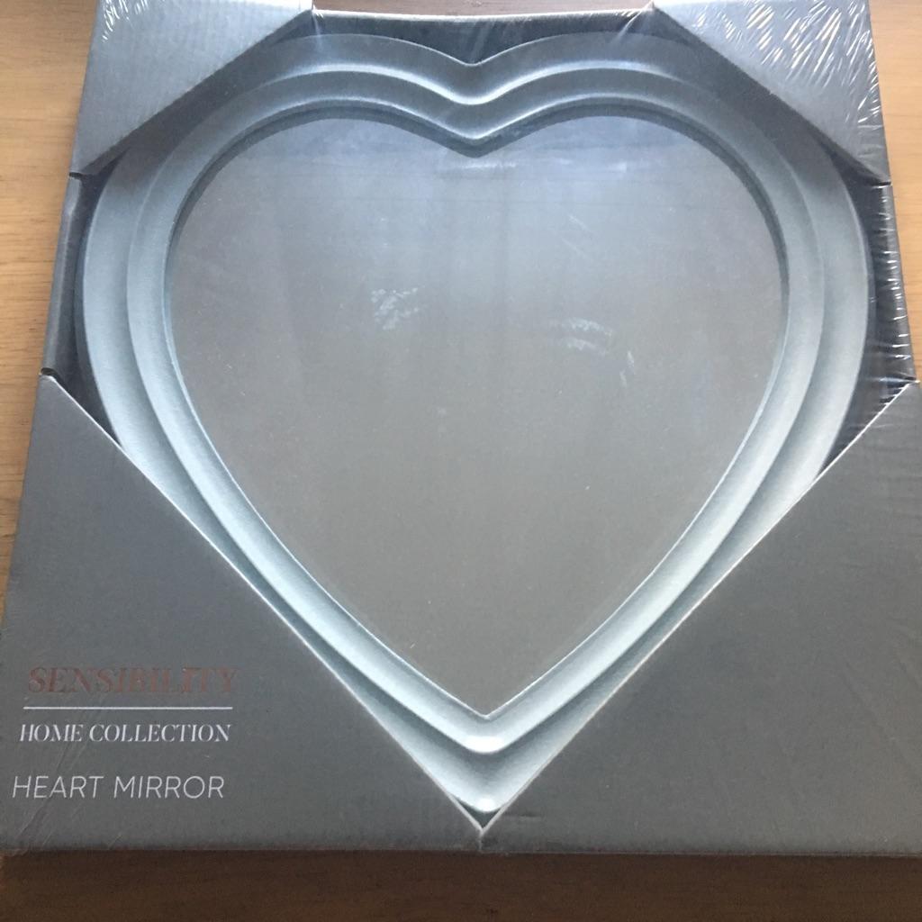 Grey Heart Mirror