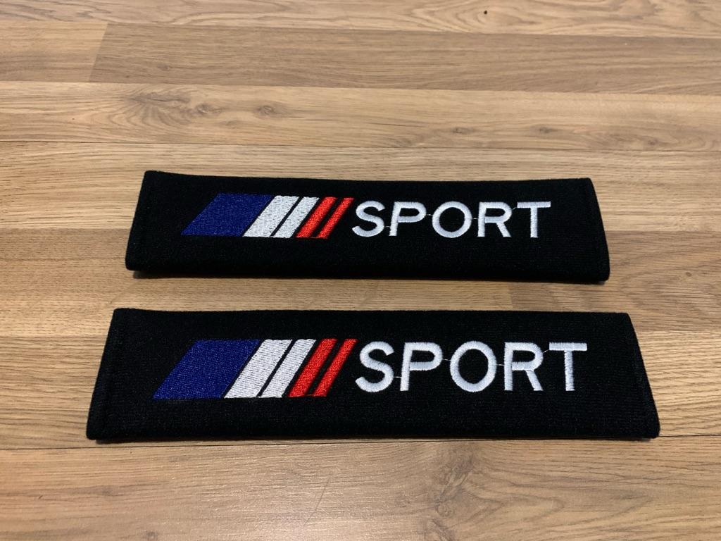 2X Seat Belt Pads Citroen Dacia Renault Megane Clio RS Sport France Flag