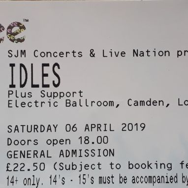 Two Tickets - Idles Saturday 6th April