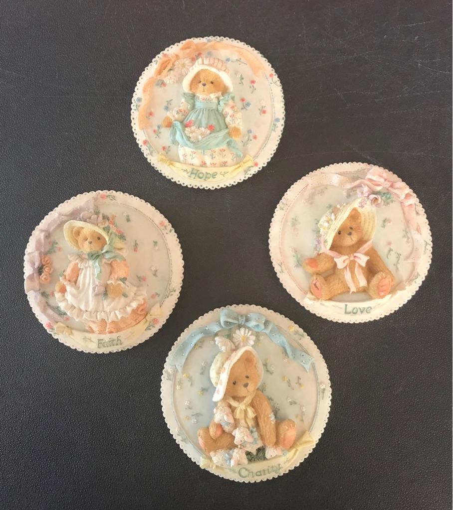 4 cherished teddy Patricia hillman plaques