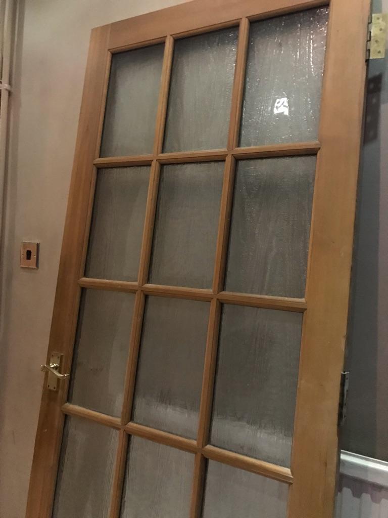 Glass internal fire door