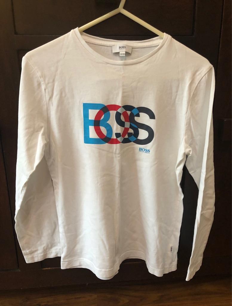 HUGO BOSS Boys Long sleeve Logo t-shirt