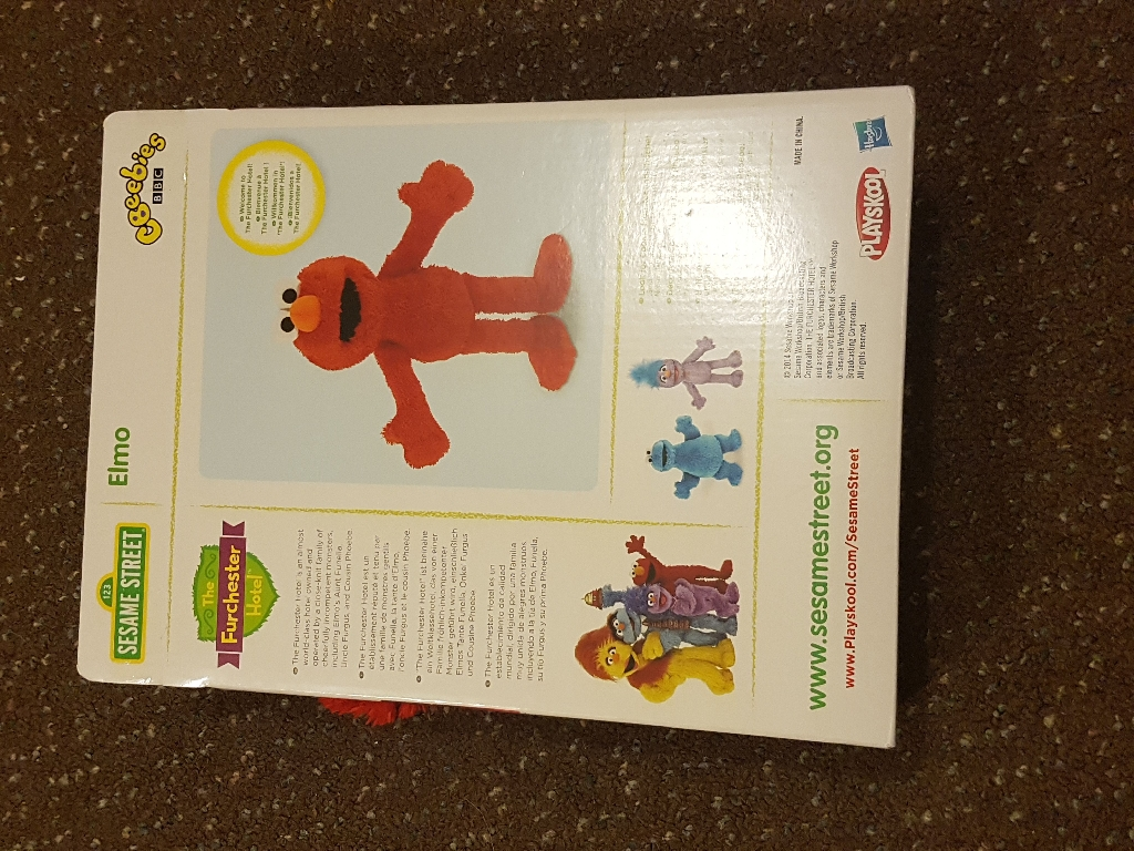 Elmo from Furchester Hotel  New in box