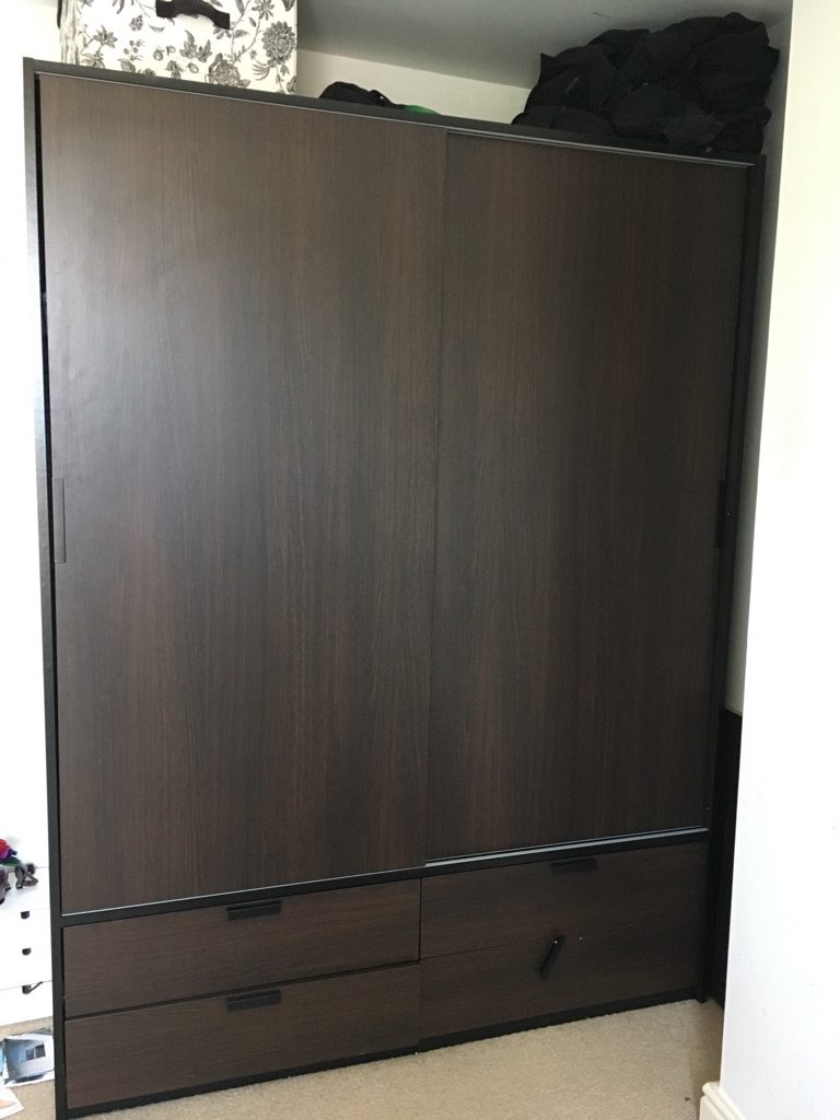 Ikea TRYSIL wardrobe 2 sliding doors 4 drawers