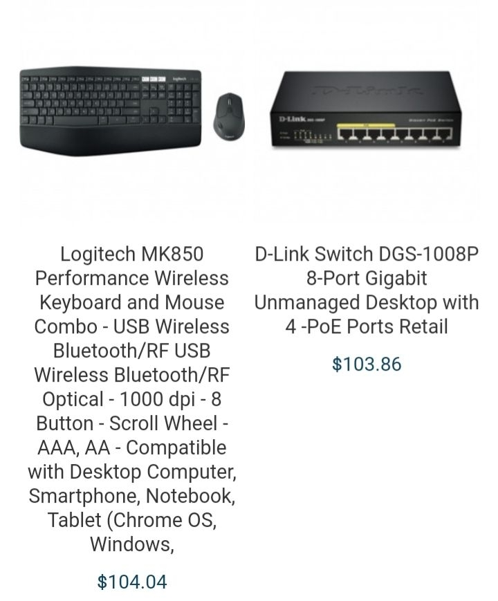 Keyboards and HDMI cables