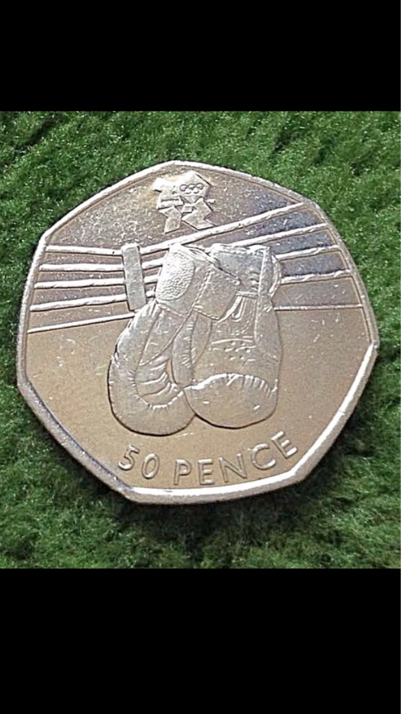 50p coin boxing London Olympic Games 2011.