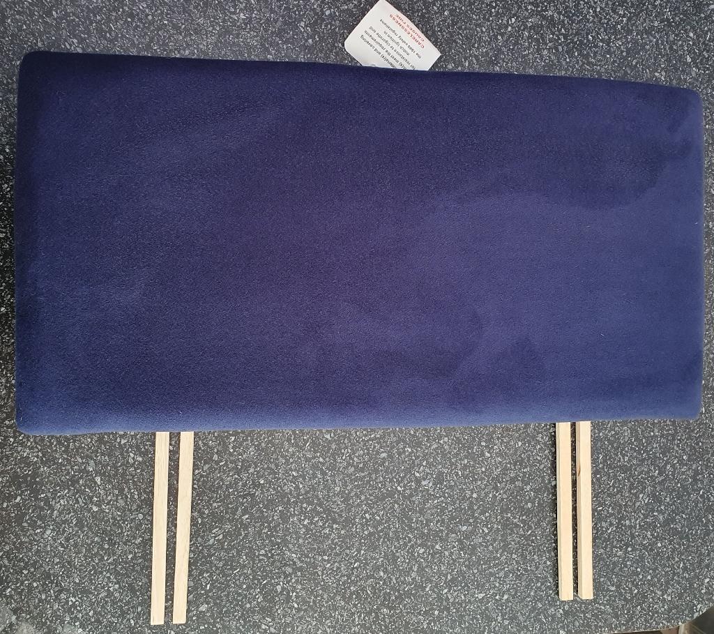 Navy/Blue single headboard