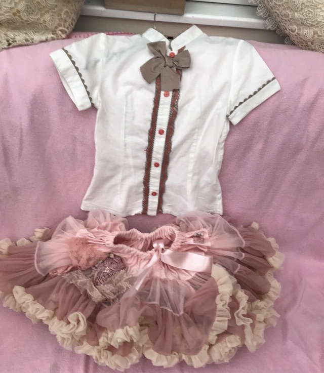 Pink and frilly pretty skirt