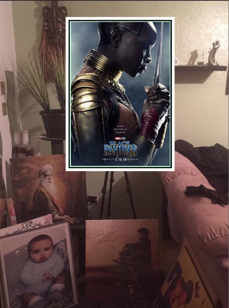 Black Panther Canvas print wall hangings ready to display (new)