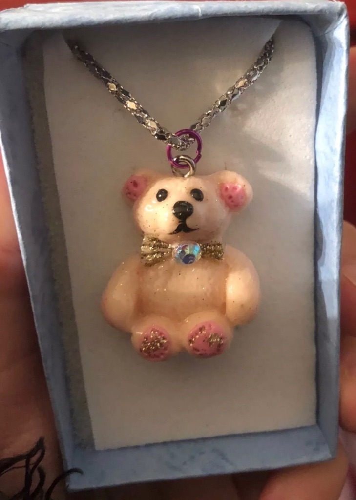 Hand made Christmas bear necklaces