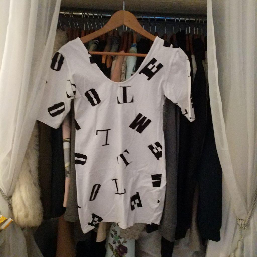 Motel letters dress