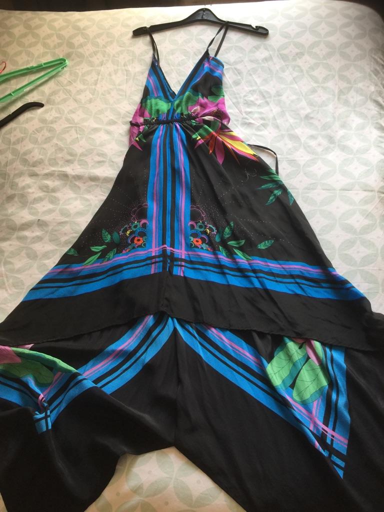 Miss Selfridge 100% silk summer dress size 18