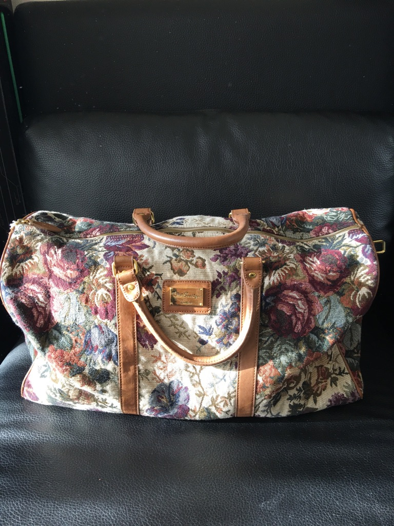 Mary Poppins style Carpet weekend bag