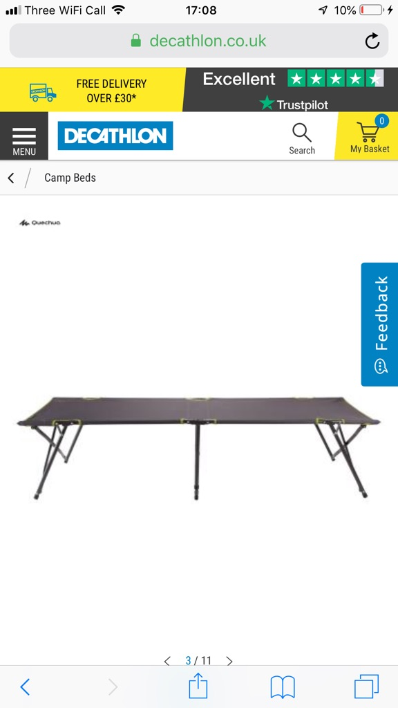 Camp / guest single foldable bed