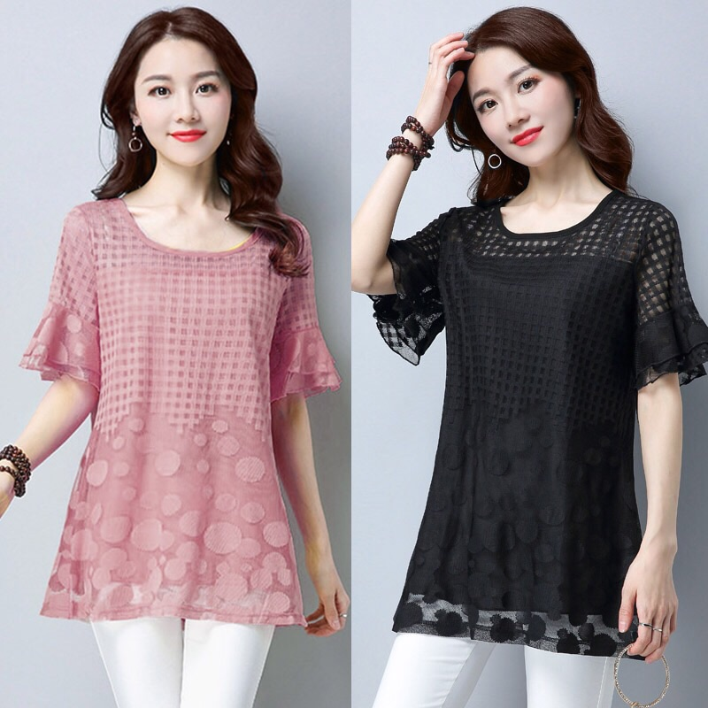 Woman t-shirt lace