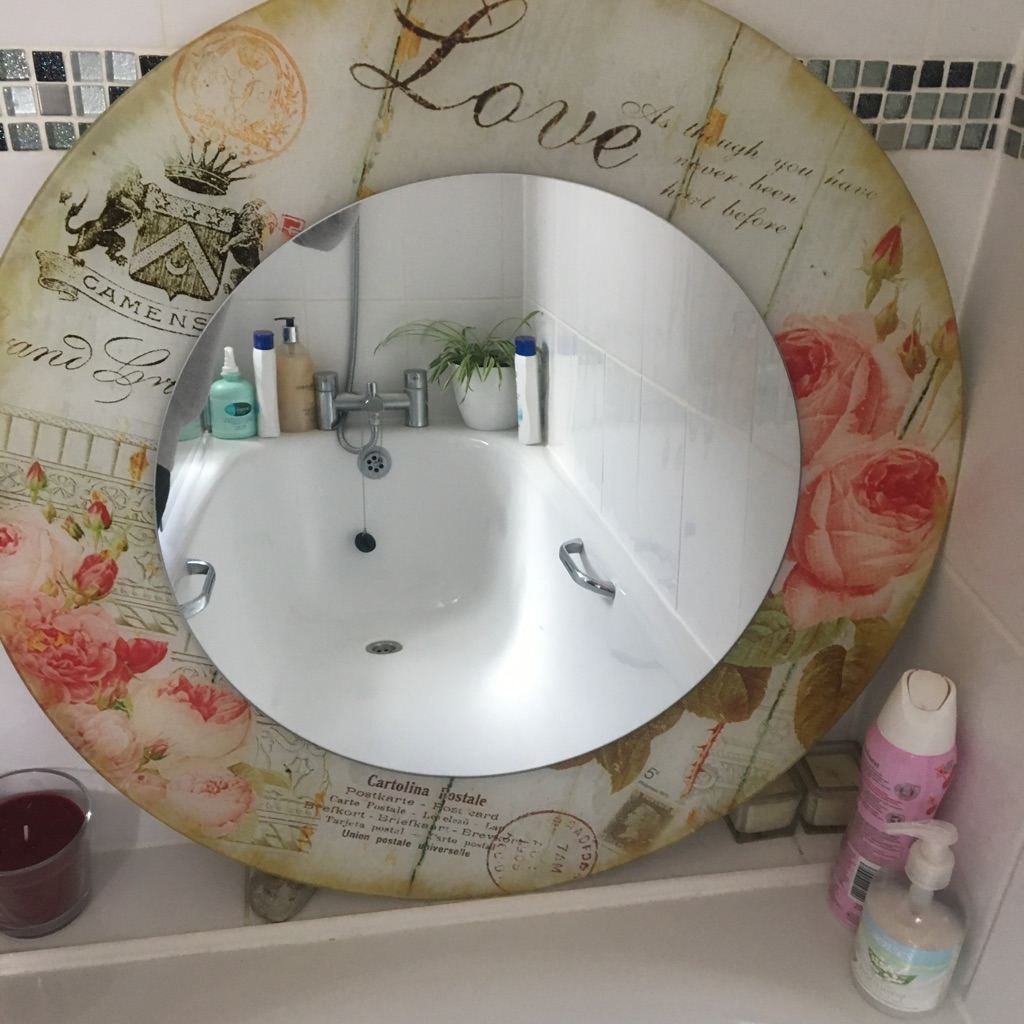 Shabby Chic Paris Theme Circular Mirror
