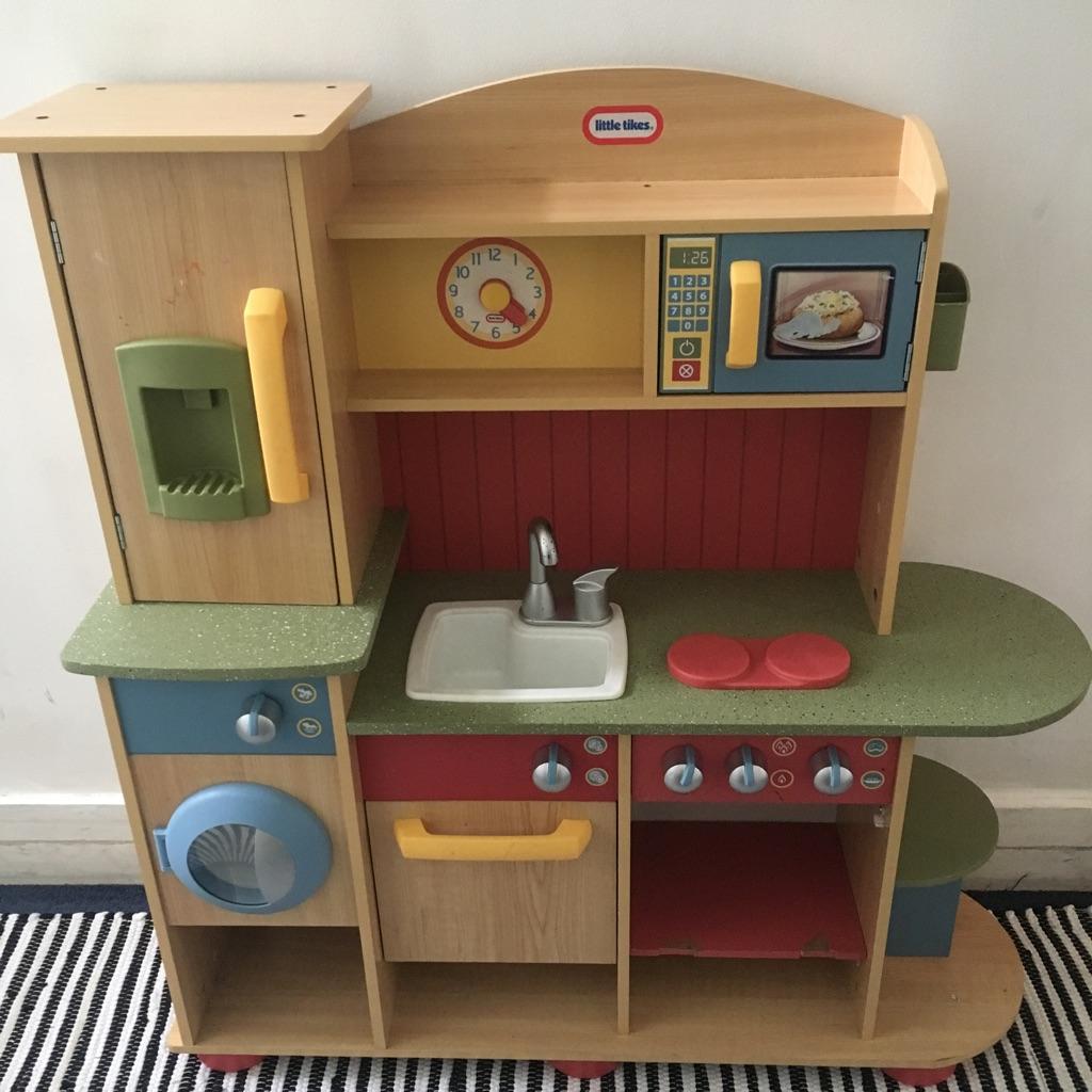 Childrens little tikes wooden toy kitchen