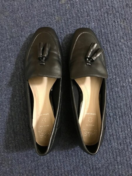 Brand New M&S Wide Fit Leather Block Heel Tassel Loafers