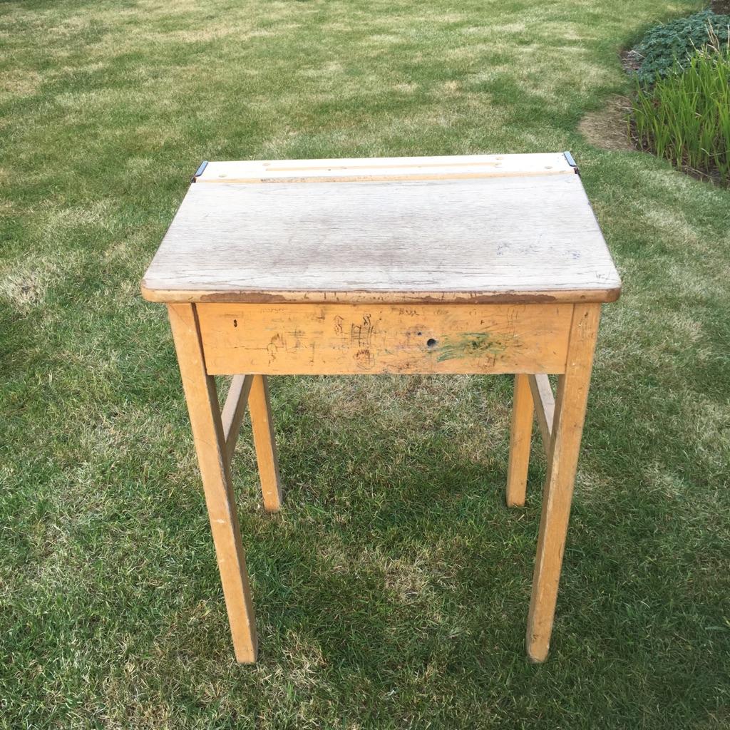 Wooden old style school desk