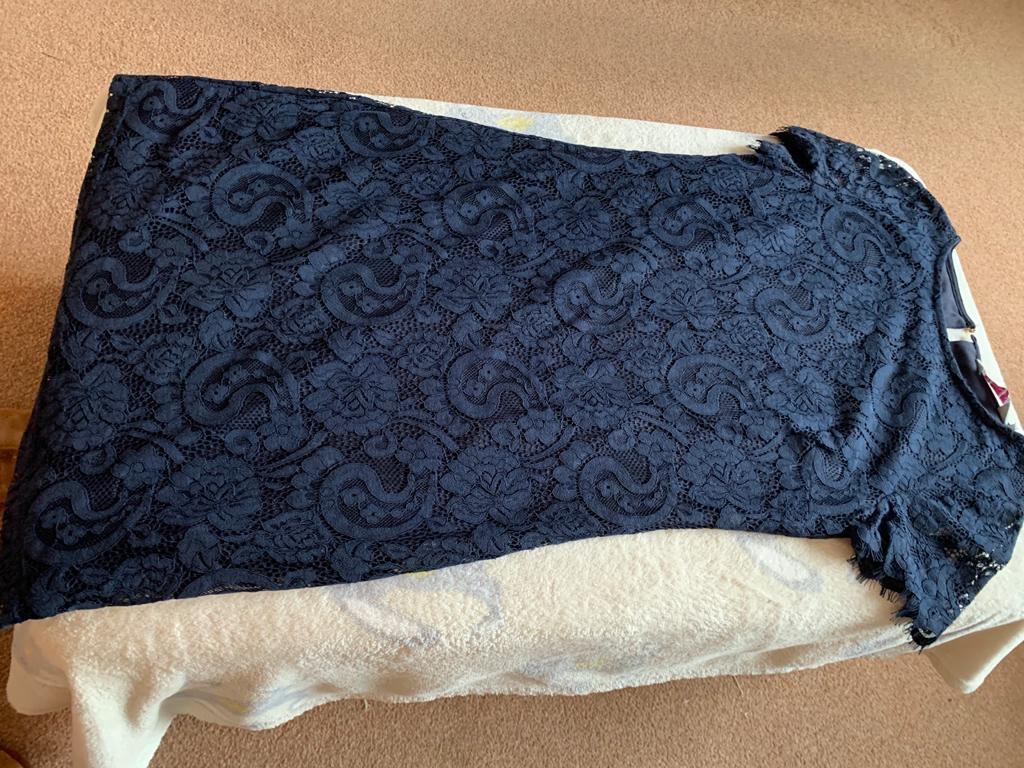 Navy lace dress size 8