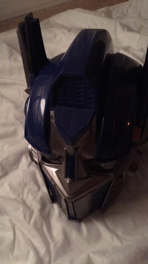 Optimus prime interactive/voice helmet
