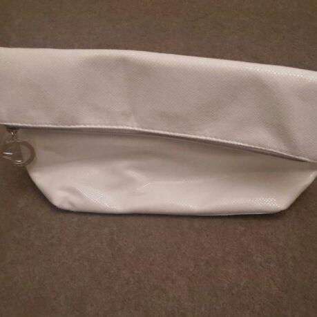 Clarins White Toiletries Bag - Unused