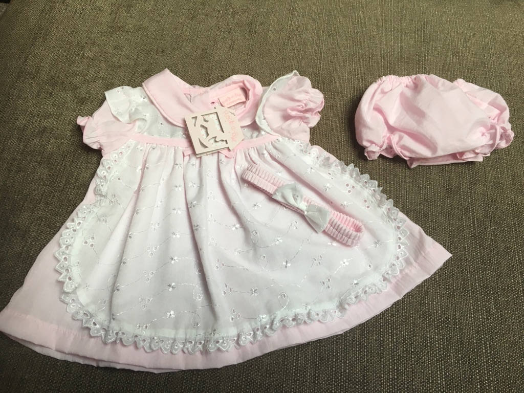 Baby girl 6-9 month boutique dress headband pants NEW