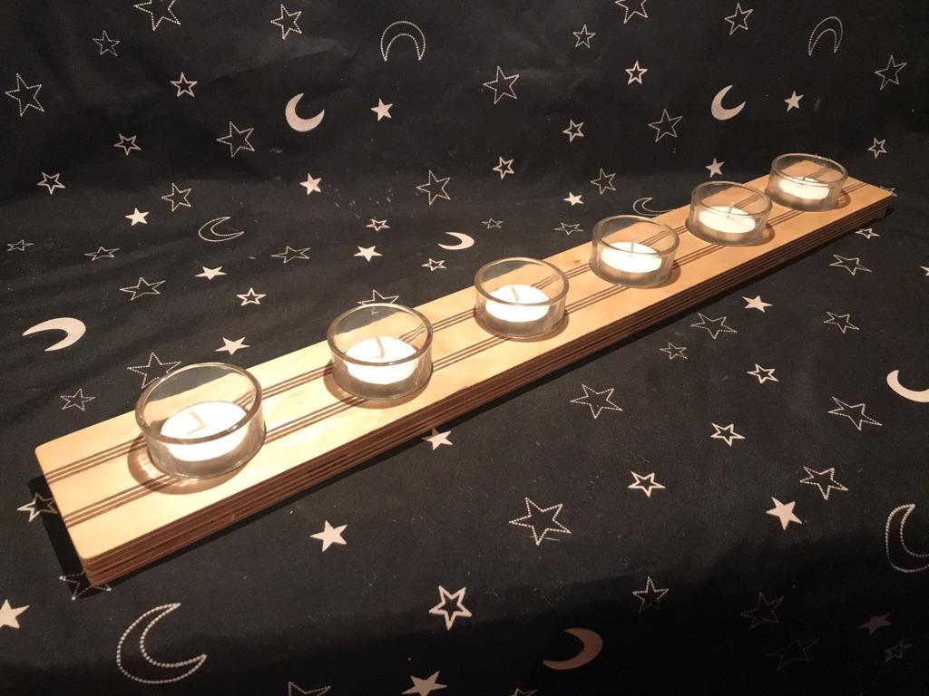 Hand made wooden tea light holders