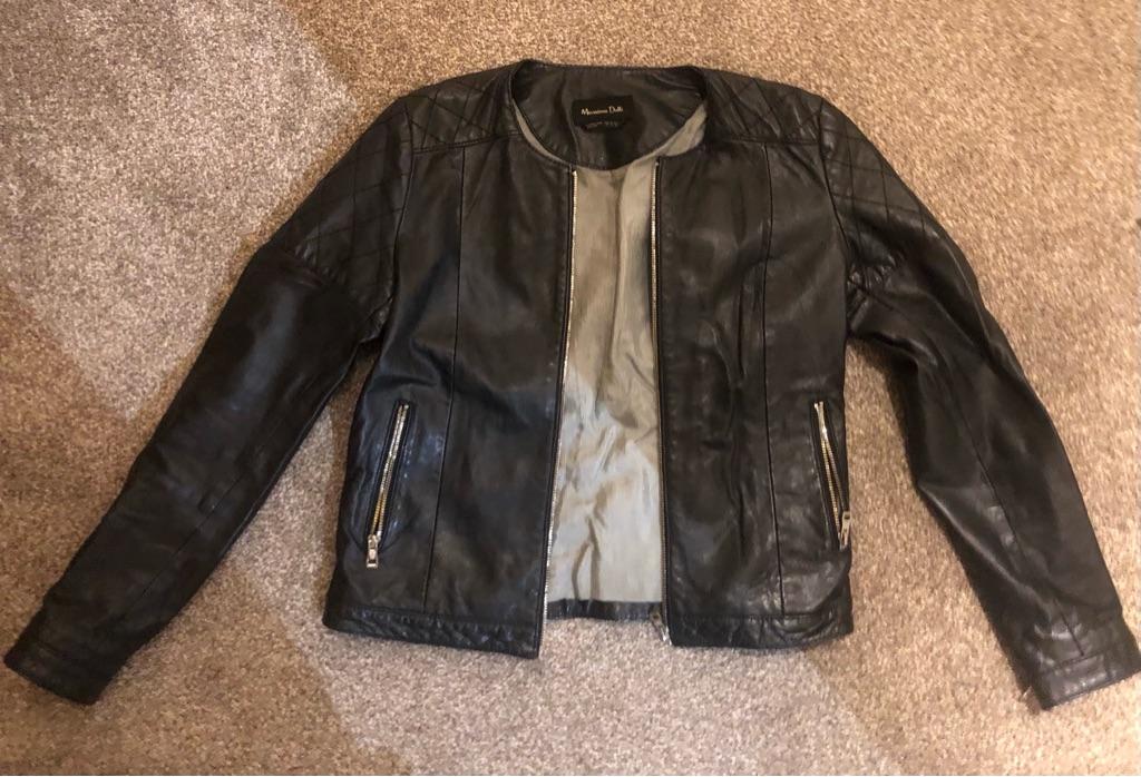 Leather jacket Massimo Dutti, S