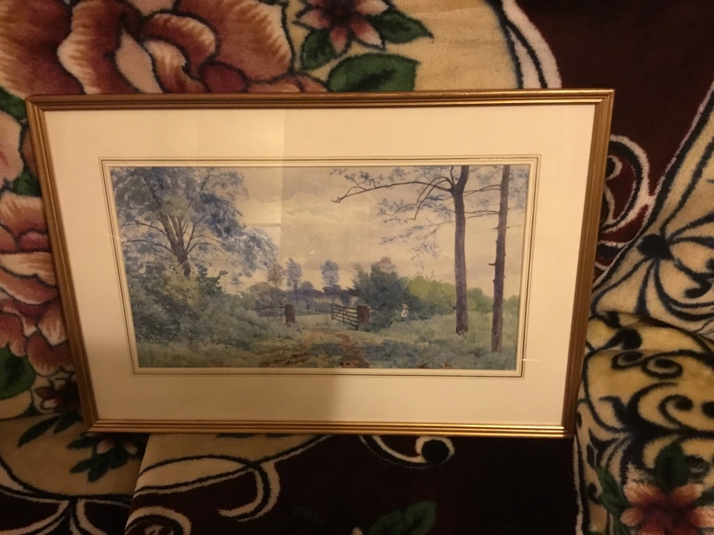 Watercolour of stoke on Clare Suffolk Signed Robert W Frazer 1881
