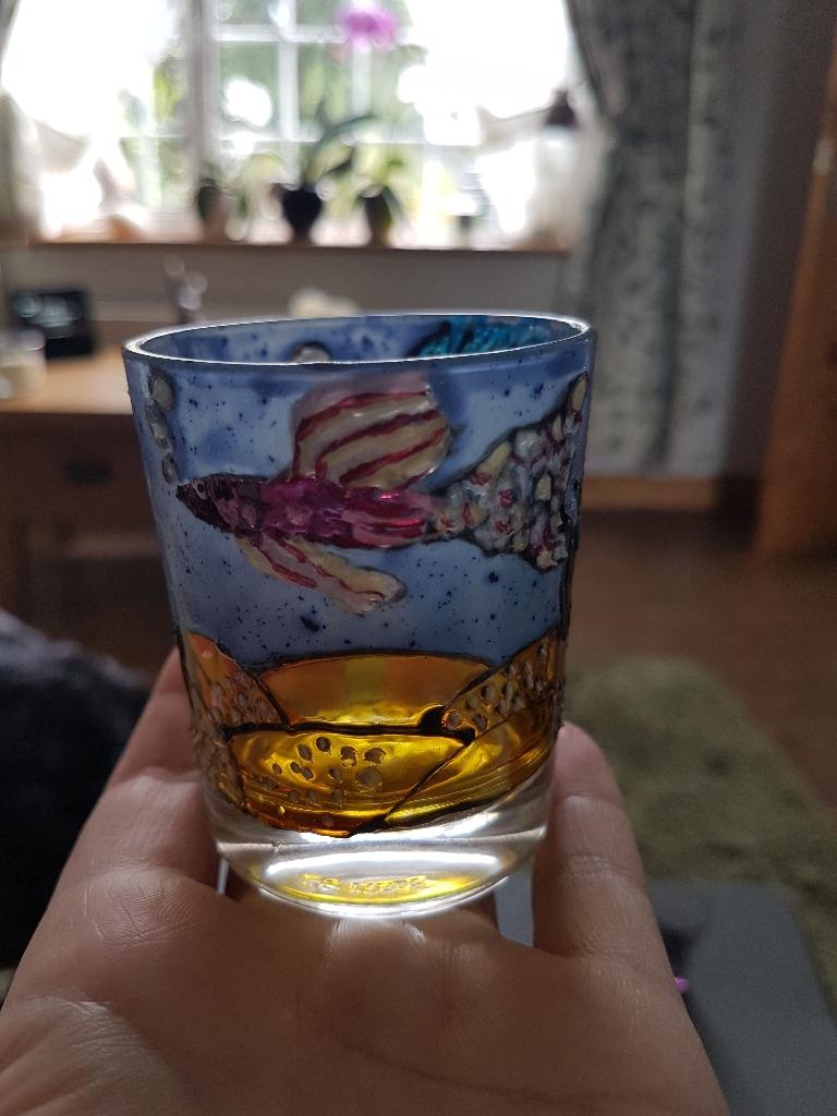 Hand Painted Tea Light