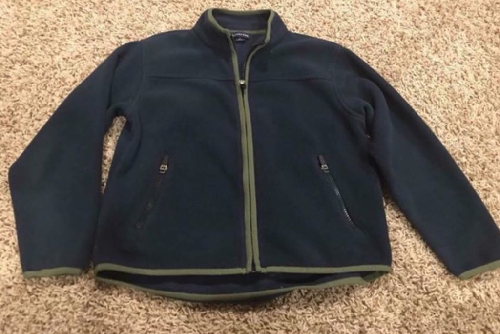 Boy's Land's End fleece zip-up jacket, size 6-7