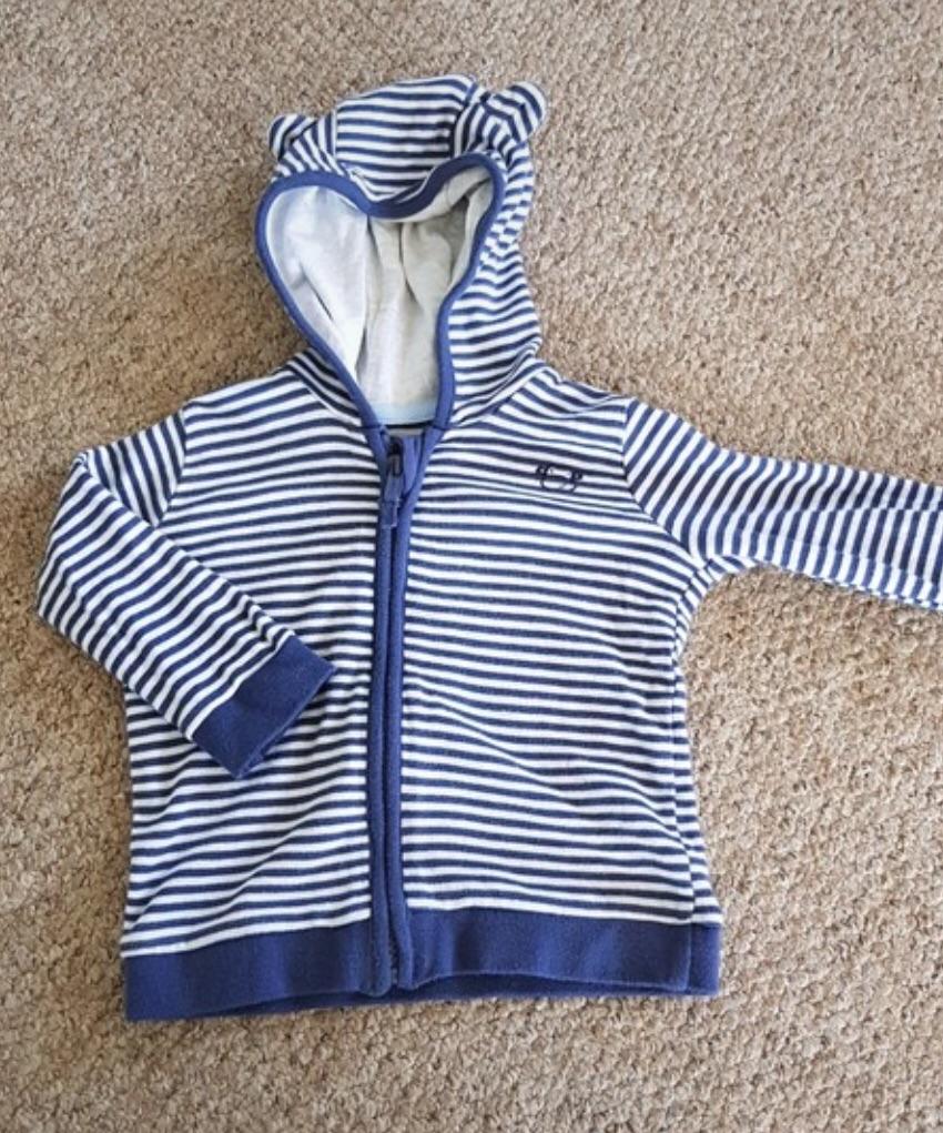 Boys striped hoodie 6-9 months
