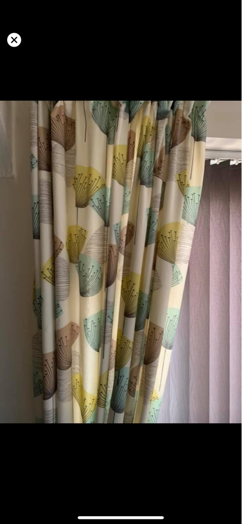 Lamp, light shade, throw , curtains