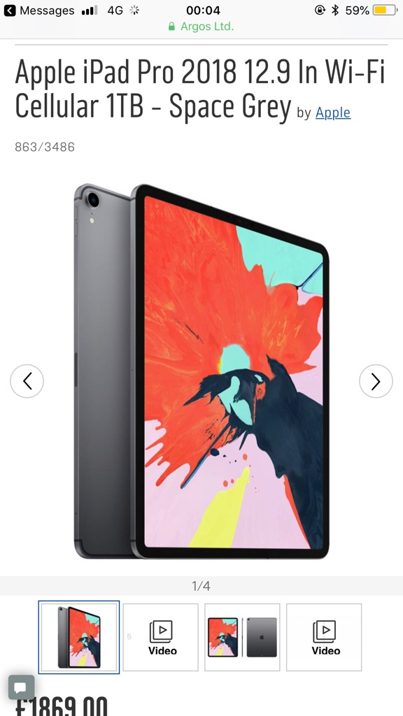 Brand new Apple  IPad Pro 12.9 inch 1TB
